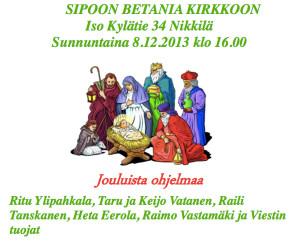 Tervetuloa joulujuhlaan @ Betania | Sibbo | Nyland | Finland