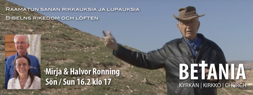 Huom! 16.2. klo 17: Halvor Ronning @ Betania | Finland