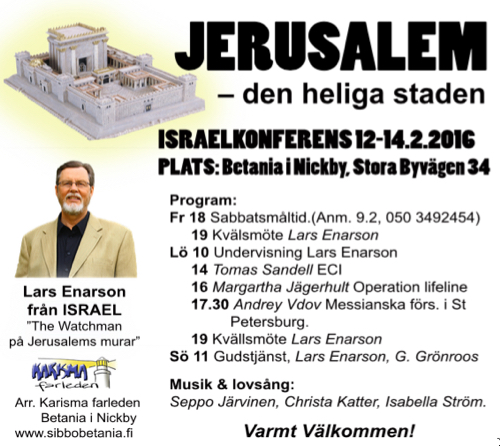 Israelkonferens @ Betania   Finland