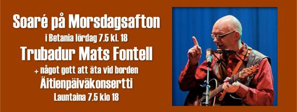 Soaré på morsdagsafton /iltakonsertti @ Betania | Finland
