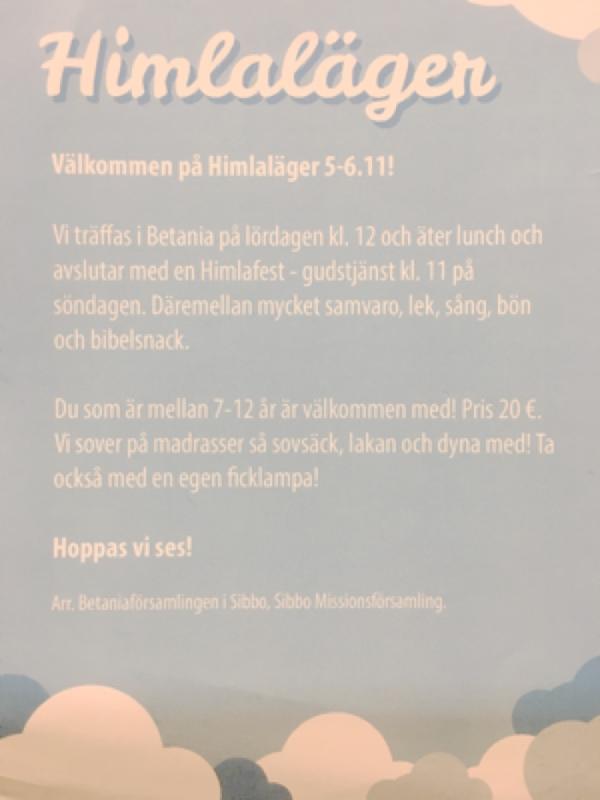 Himlaläger för 7-13-åringar @ Betania | Finland