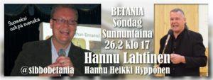 Möte med Hannu Lahtinen /kokous @ Betania | Finland