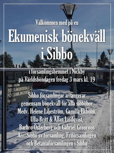 Ekumenisk bönekväll @ Församlingshemmet | Finland