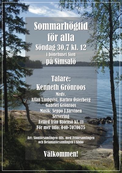 Sommarhögtid i skärgården @ Simsalö | Finland