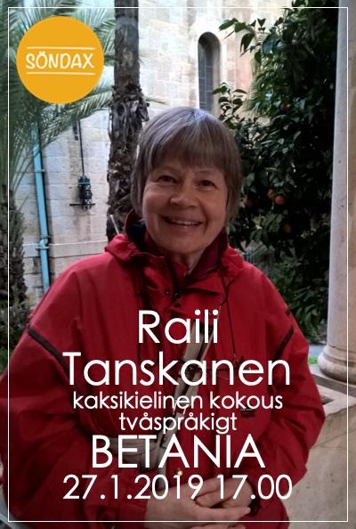 Gudstjänst med Raili Tanskanen - kaksikielinen kokous @ Betania | Finland