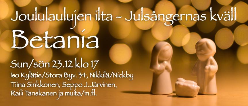 Julsångernas kväll - Joululaulujen ilta @ Betania