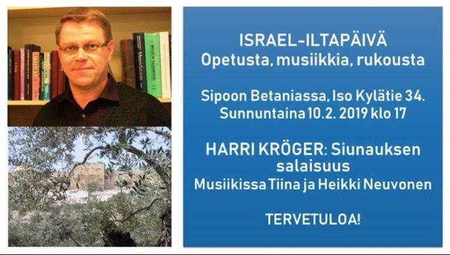 Israel-teemailtapäivä Harri Krögerin kanssa @ Betania