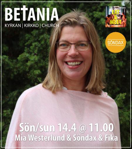 Gudstjänst med Mia Westerlund @ Betania | Finland