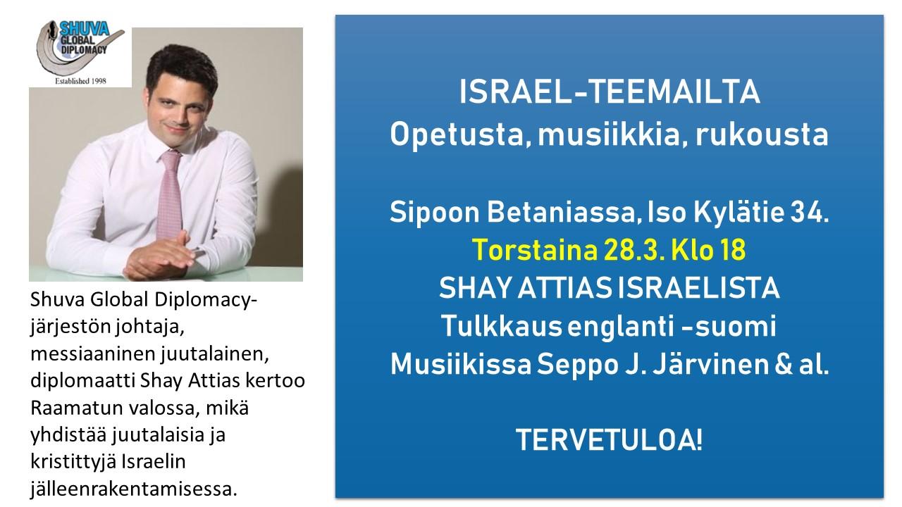 Israel-teemailta Shay Attiaksen kanssa @ Betania