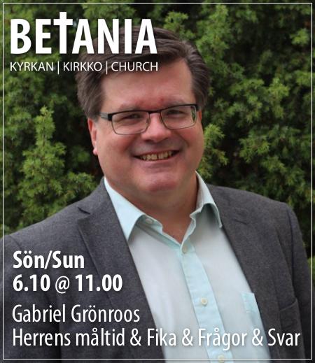 Gudstjänst med Gabriel Grönroos @ Betania | Finland