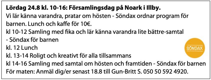 Församlingsdag @ Noark