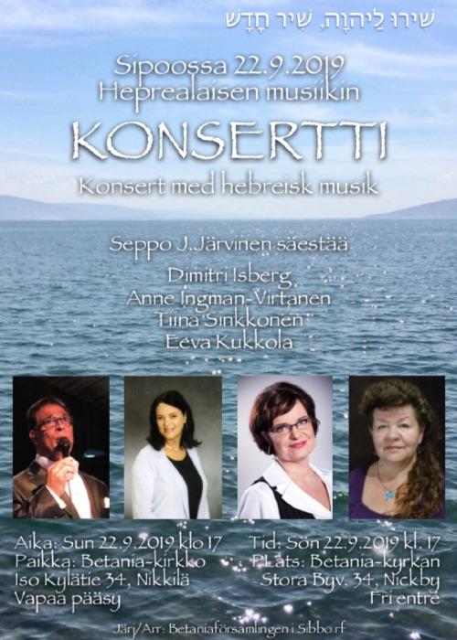 Konsertti/Konsert med hebreisk musik @ Betania