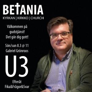 Gudstjänst med Gabriel Grönroos @ Betaniakyrkan