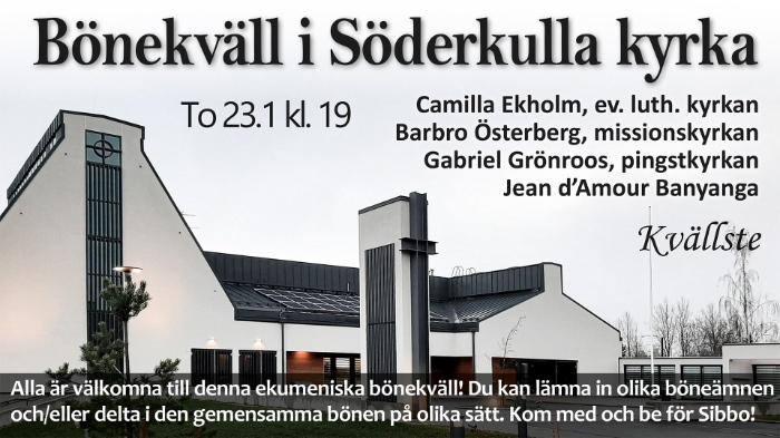 Ekumenisk bönekväll @ Söderkulla kyrka | Finland