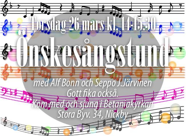 INSTÄLLT Önskesångstund med Alf & Seppo @ Betaniakyrkan